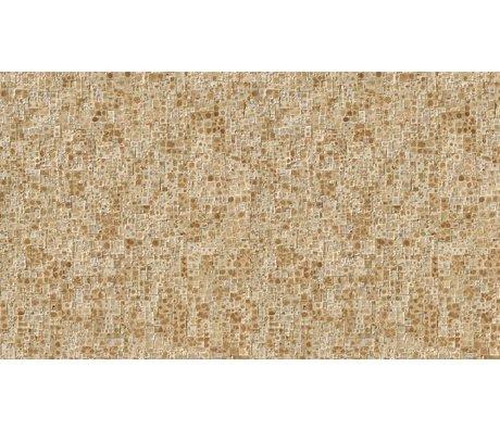 NLXL-Arthur Slenk Wallpaper 'Remixed 2' di carta, crema / marrone, 900x48.7cm