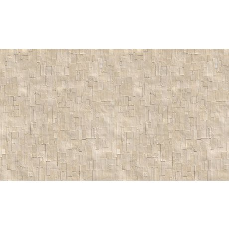 NLXL-Arthur Slenk Wallpaper 'Remixed 1' di carta, crema / bianco, 900x48.7cm