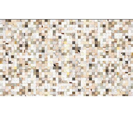 """Piet Hein Eek La carta da parati 'Scrapwood 16 """", bianco / marrone, 900 x 48,7 centimetri"""