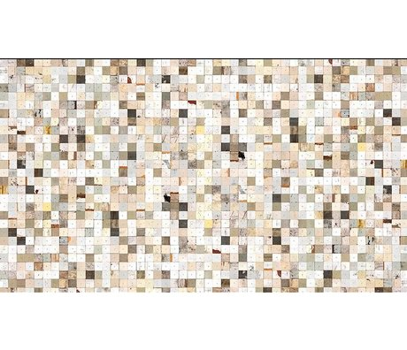 """Piet Hein Eek Scrapwood 16 papier Wallpaper """", blanc / brun, 900 x 48,7 cm"""