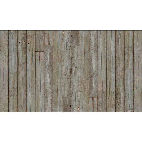 """Piet Hein Eek Papel Wallpaper 'Scrapwood 14 """", gris / marrón, 900 x 48,7 cm"""
