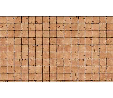 """Piet Hein Eek Wallpaper 'Scrapwood 9 """"papir, brun, 900 x 48,7 cm"""