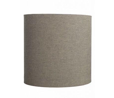 """Housedoctor Paralume """"Fine"""", di cotone, grigio / marrone, Ø30x30cm"""