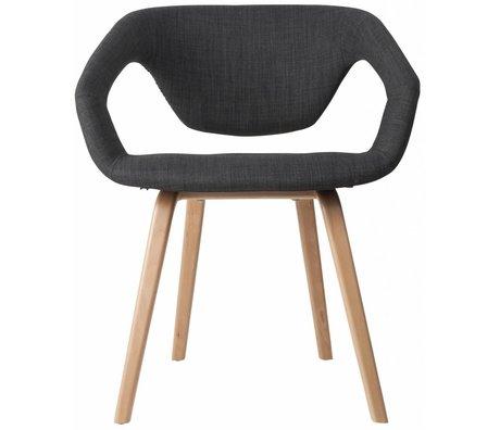 Zuiver Dining chair Flexback, natural / dark gray, 64x57x78cm