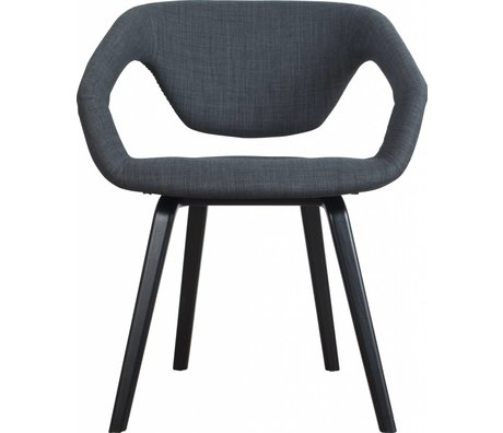 Zuiver Dining chair Flexback, black / dark gray, 64x57x78cm