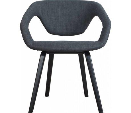 Zuiver Esszimmerstuhl Flexback, schwarz/dunkelgrau, 64x57x78cm