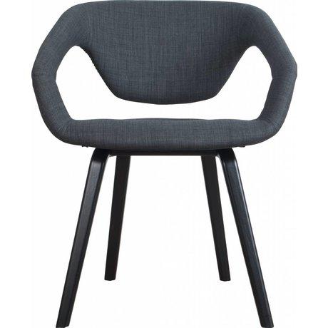 Zuiver Dining chair Flexback, black / dark gray, 64x57x78cm