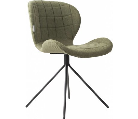 Zuiver Esszimmerstuhl OMG, grün, 50x56x80cm