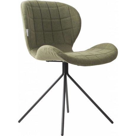 Zuiver Dining chair OMG, green, 50x56x80cm