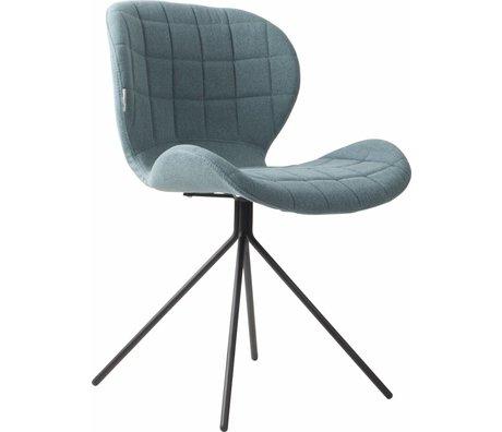 Zuiver Salle à manger chaise OMG, bleu, 50x56x80cm