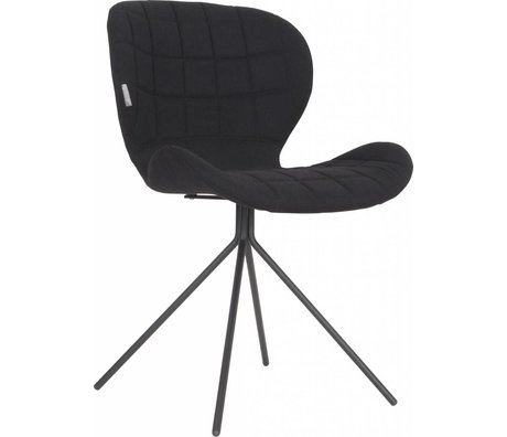 Zuiver Dining chair OMG, black, 50x56x80cm