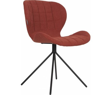 Zuiver Salle à manger chaise OMG, orange, 50x56x80cm