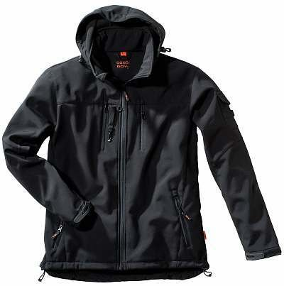 Herren Softshelljacke BUDDY in schwarz