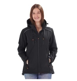 GoodBoy! Damen Softshelljacke LUCY in schwarz