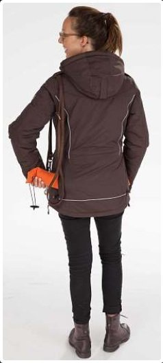 GoodBoy! Damen Winterjacke FINJA in espresso