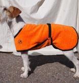 Bademantel für Hunde orange 35 cm