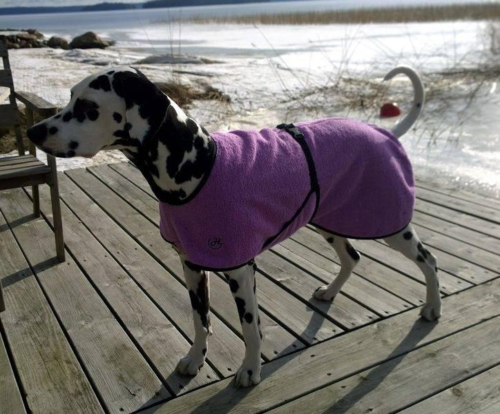 Bademantel für Hunde hell-lila