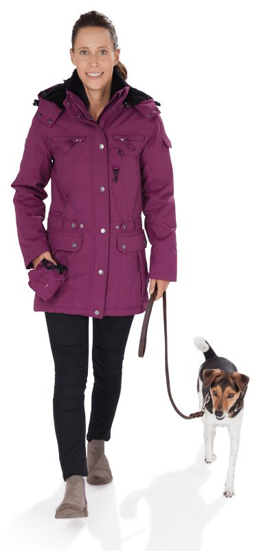 GoodBoy! Damen Winterjacke DANA in pflaume