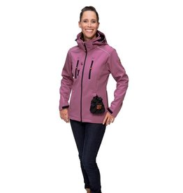 GoodBoy! Damen Softshelljacke LUCY in wilde beere