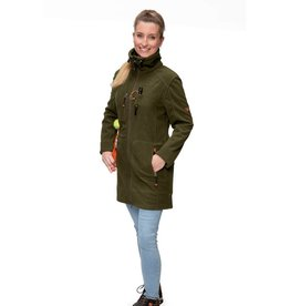 GoodBoy! Damen Fleecejacke ELLA in oliv