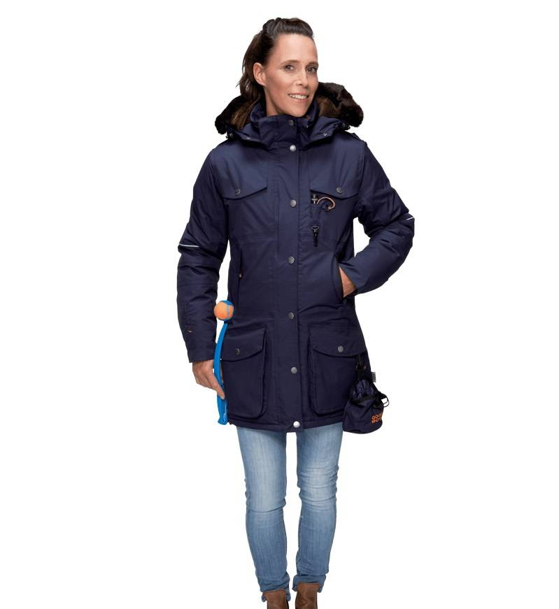 GoodBoy! Damen Winterjacke MARIBO in nachtblau