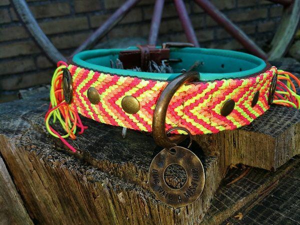 DWAM Lederhalsbänder Größe M 2,5 cm