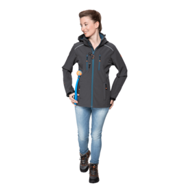 GoodBoy! Damen Softshelljacke LUCY in anthrazit/aquamarin