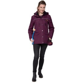 GoodBoy! Damen Winterjacke CHARLY in brombeer