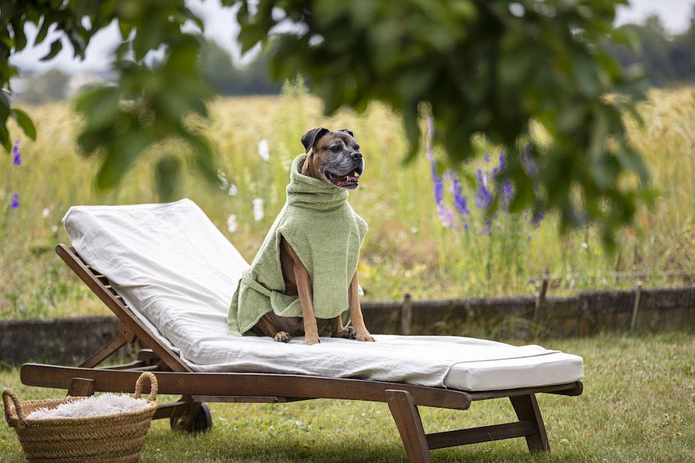 """Hundebademantel von """"Lill's"""" green leafe"""