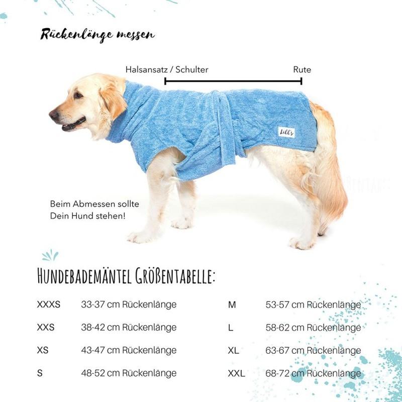 "Hundebademantel von ""Lill's"" ocean blue"