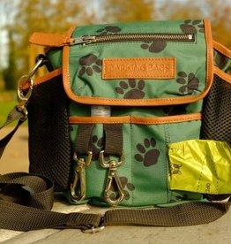 Canvas Green Paw Prints Tasche