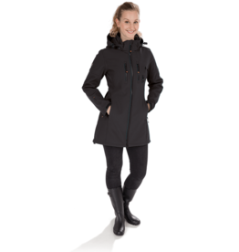 GoodBoy! Damen Softshelllangjacke LYA in schwarz