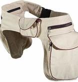 Doppel Hip Bag für Hundebesitzer    - Hanffarben/Braun
