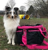 Trainingstasche für Hundehalter schwarz/hotpink