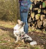 Doppel Hip Bag für Hundebesitzer - Lila/Blau