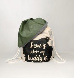 Hundedecke BUDDY.Büggel grün - Reisedecke
