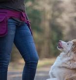 Doppel Hip Bag für Hundebesitzer - plum berry