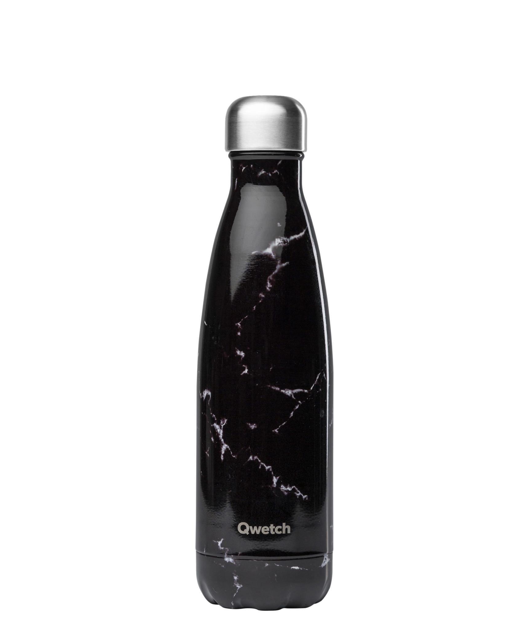 Iso Flasche Thermo – Marmor Design schwarz 500 ml