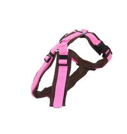 AnnyX Brustgeschirr Fun  braun/rosa (Sonderfarbe*)