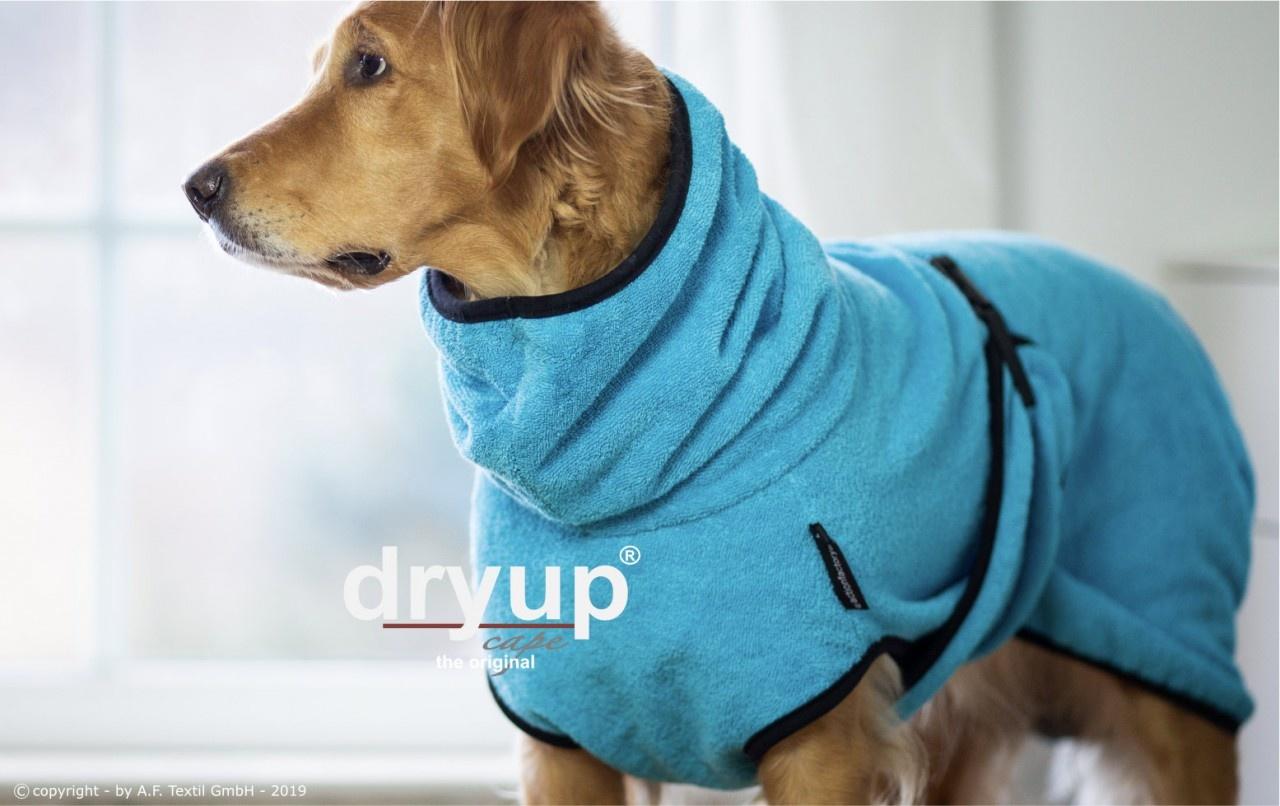 DryUp Cape - Der Hundebademantel - cyan