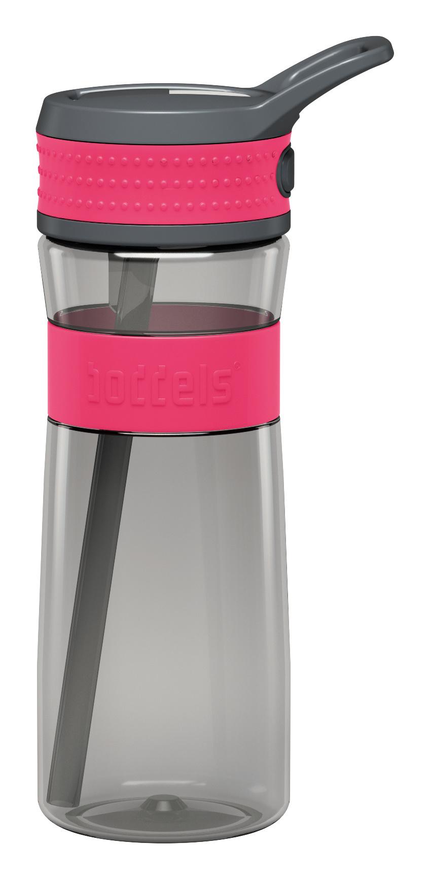 Trinkflasche EEN 600ml Tritan Himbeerrot / Grau