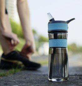 Trinkflasche EEN 600ml Türkisblau / Grau
