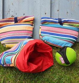 Leckerli Tasche Dogbag Funky Stripes & Nylon 25 x 22 cm