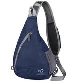 Crossbody dunkelblau  - Schultertasche für unterwegs