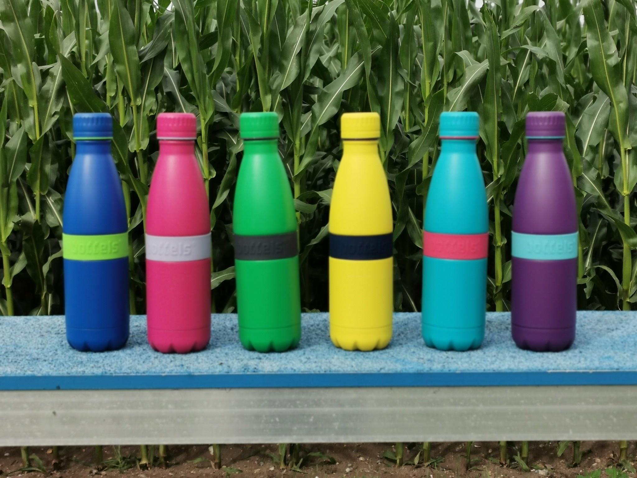 Trinkflasche TWEE+ 500ml Anthrazitgrau/Grün