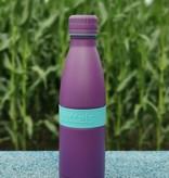Trinkflasche TWEE+ 500ml Türkisblau / Lila