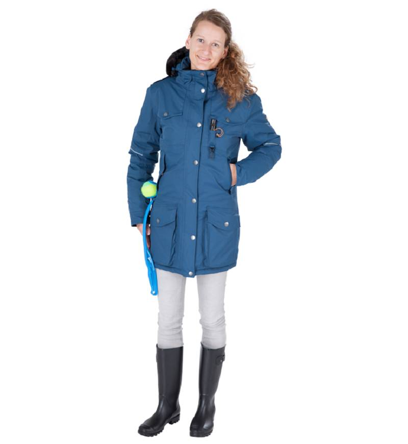 GoodBoy! Damen Winterjacke MARIBO in aquamarin