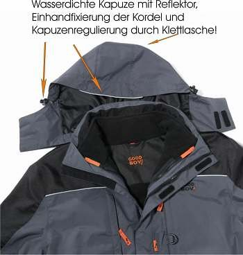 GoodBoy! Damen 3 in 1 Jacke MAX in grau