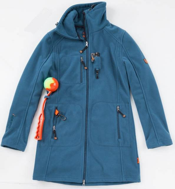 GoodBoy! Damen Fleecejacke ELLA in aquamarin