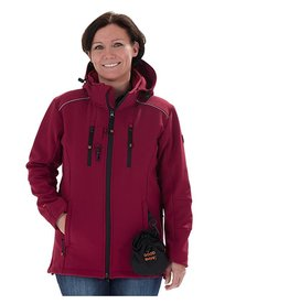 GoodBoy! Damen Softshelljacke LUCY in bordeaux